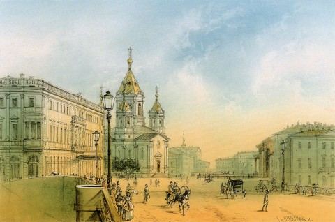 Благовещенская площадь, 1856 г.