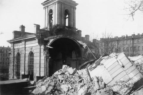 Разрушение Покровской церкви. 1934 г..