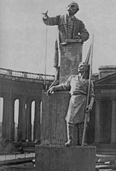 Макет памятника Г. В. Плеханову у Казанского собора. 14.05.1924.