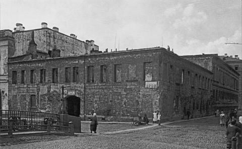 Начало строительства дома жилищной кооперации Союза печатников. 1929 г..