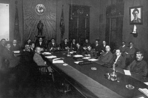 Булла В., Заседание руководящих работников Северо-западной областной конторы Государственного банка. 1926 г..