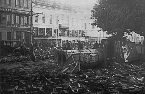 Проспект 25 Октября (ныне Невский) после наводнения. 23.09.1924.
