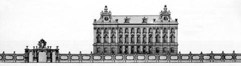 Проект Аничкова дворца. 1741-1743.