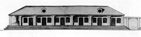 Серебряные ряды, построенные из дерева. 1740-е.