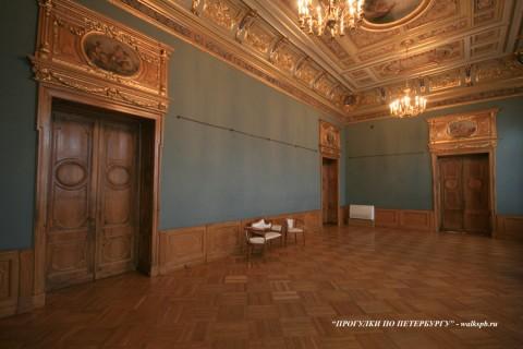 Синий зал в особняке М. В. Кочубея. 2009.03.01.