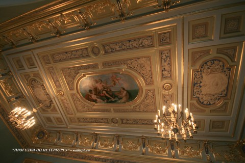 Плафон Синего зала в особняке М. В. Кочубея. 2009.03.01.
