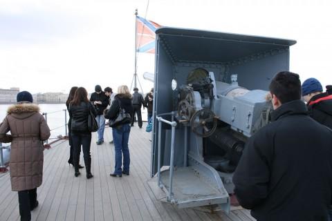 На крейсере «Аврора». 2008.03.22.