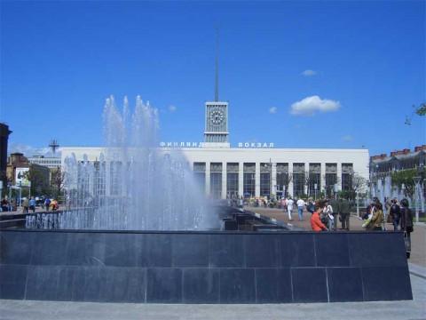 Фонтан на площади Ленина. 2006.06.03.