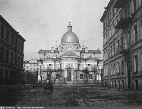 Церковь Рождества Христова на Песках. Восточный фасад. 1900-1910.