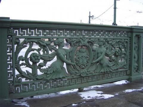 Ограда Литейного моста. 2007.01.14.