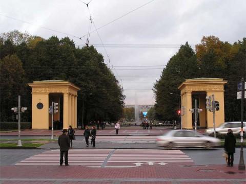 Пропилеи Московского парка победы.