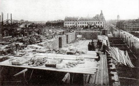 Работы по надстройке домов №22 и 24. 1909-1910 годы.