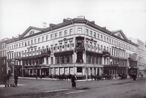 Булла К. К., Угловой фасад дома 13 по Невскому проспекту. 1901-1903 годы.