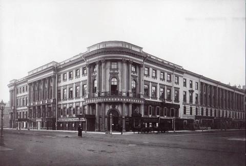 Неизвестный фотограф, Угловой фасад дома 15 по Невскому проспекту. 1900-е годы.