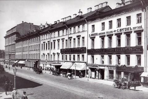 Булла К. К., Фасады домов 2-8 по Невскому проспекту. Начало 1900-х годов.