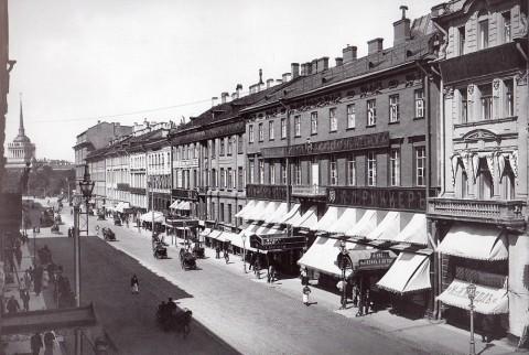 Булла К. К., Фасады домов 2-14 по Невскому проспекту. Начало 1900-х годов.