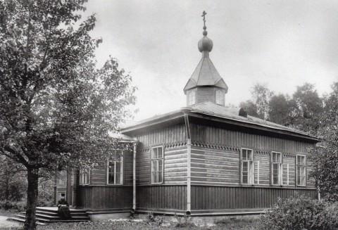 Неизвестный фотограф, Церковь Свех Святых киновии Александро-Невской лавры. 1913.