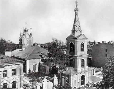 Неизвестный фотограф, Вид сверху на собор прп. Сампсония Странноприимца и колокольню. 1900-е годы.