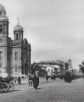 Матвеев Н. Г., Загородный проспект у собора Введения во храм Пресвятой Богородицы. 1900-е годы.