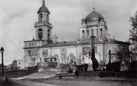 Неизвестный фотограф, Церковь Благовещения Пресвятой Богородицы на Волковском кладбище. 1900-е годы.