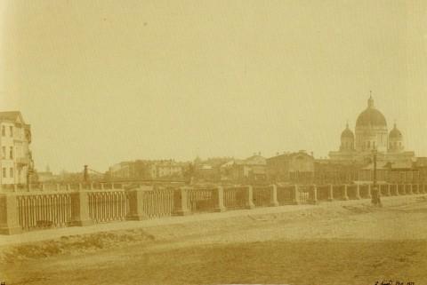 Юар Э., Вид на Троицкий собор с набережной Крюкова канала. 1857 год.