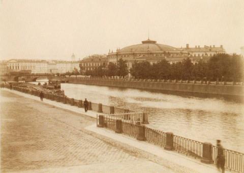 Левашов Н. В., Вид на Цирк из окна дома по Набережной Фонтанки, д. 18. 1885 год.