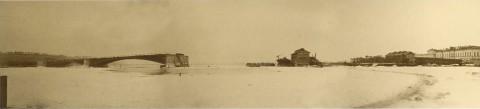 Гофферт И. К., Понорама строительства Литейного моста. 1879.02.19.