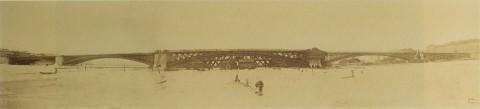 Гофферт И. К., Панорама строительства Литейного моста. 1879.03.15.