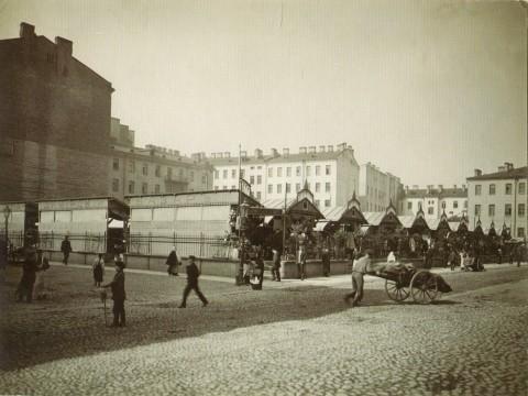 Неизвестный фотограф, Владимирский базар в Кузнечном переулке. 1910-е годы.