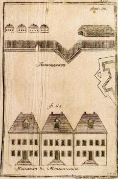 Рудаков А. Г., Мазанки князя Меншикова. Палисадник. 1779 год.