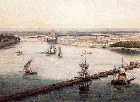 Панорама города Санкт-Петербурга, лист 1. 1853 год.