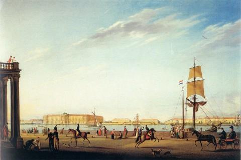 Майр И. Г., Вид на Академию художеств и Кадетский корпус. 1802 год.