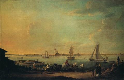 Майр И. Г., Вид на Петропавловскую крепость. Между 1796 и 1803 годами.