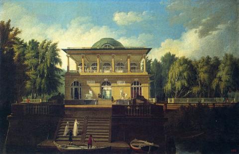 Воронихин А. Н., Вид на Строгановскую дачу в Петербурге. 1797 год.