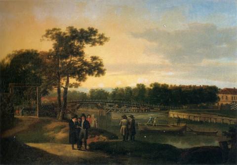 Щедрин Сильвестр Ф., Вид на Петровский остров в Петербурге. 1817 год.