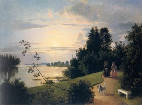 Хруцкий И. Ф., Вид на Елагином острове в Петербурге. 1839 год.