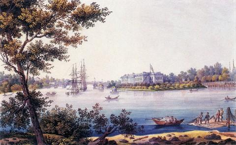 Беггров К. П., Вид Каменноостровского дворца. Вторая половина 1820-х - 1830-е годы.