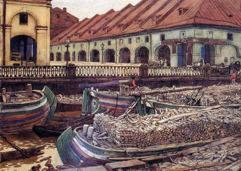 Лансере Е.Е., Петербург. Старый Никольский рынок. 1901 год.