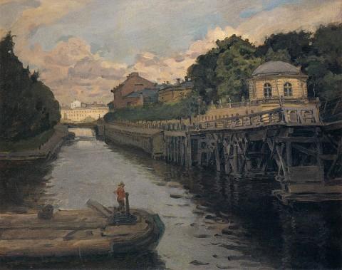 Яремич С. П., Крюков канал в белую ночь. 1908 год.