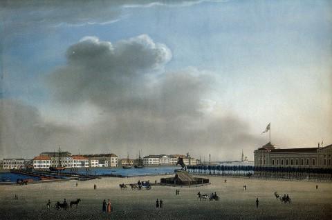 Сенатская площадь, 1810-е гг.