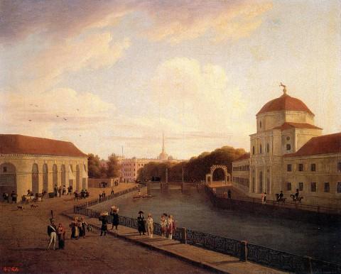 Мартынов А. Е., Вид Михайловского замка в Петербурге. 1815 год.