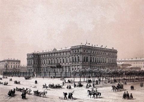 Жакотте Л. Ж., Николаевский дворец. Середина XIX века.