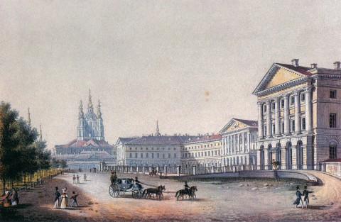Беггров К. П., Вид Смольного монастыря и Смольного института. Вторая половина 1820-х - 1830-е годы.