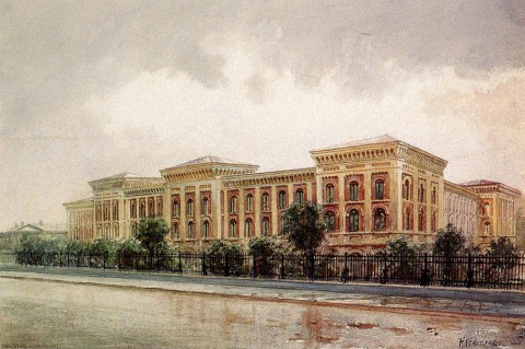 Гефтлер К. Э., Женский Павловский институт. 1880-е годы.