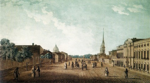Дамам-Демартре М. Ф., Перспектива Невского проспекта. Начало XIX века.