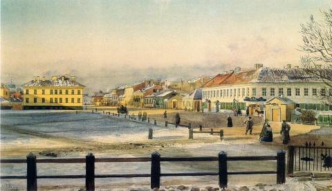 Виллие М. Я., Петербург. Угол Кирочной и Потёмкинской. 1862 год.