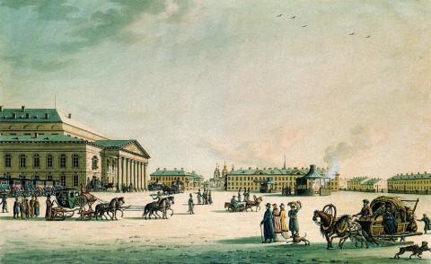 Патерсен Б., Большой императорский театр в Петербурге. 1806 год.