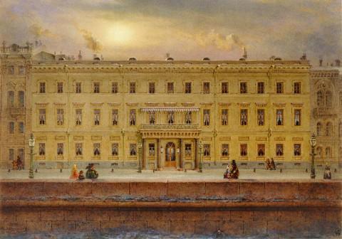 Садовников В. С., Вид набережной Невы. 1860 год.