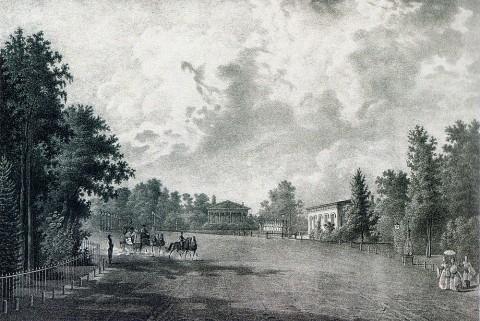 Иванов П. С., Каменноостровский театр (вид с Елагина острова). 1830-е годы.