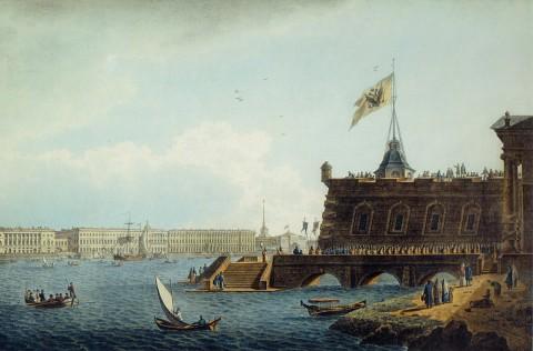 Галактионов С. Ф., Вид на Неву со стороны Петропавловской крепости. 1821 год.